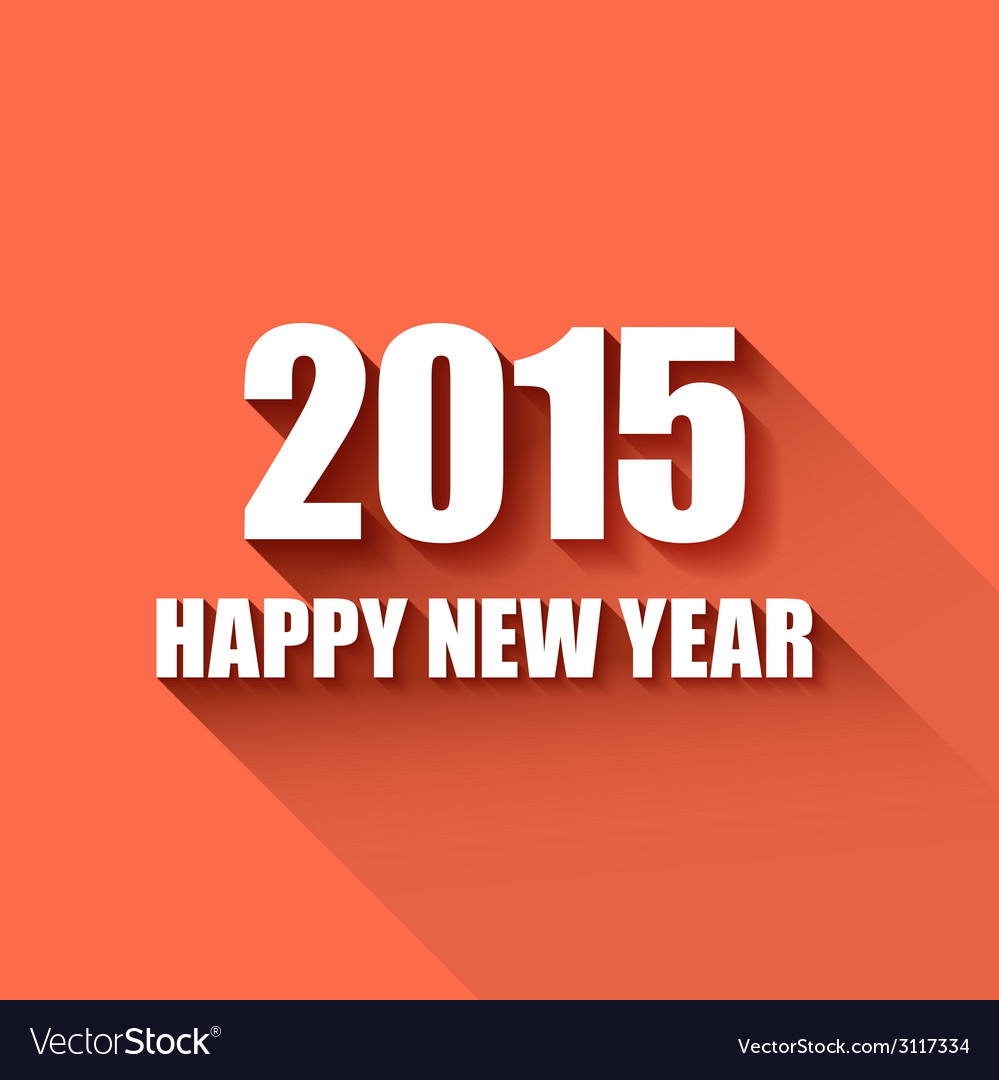 Modern simple happy new year card 2015 vector | Price: 1 Credit (USD $1)