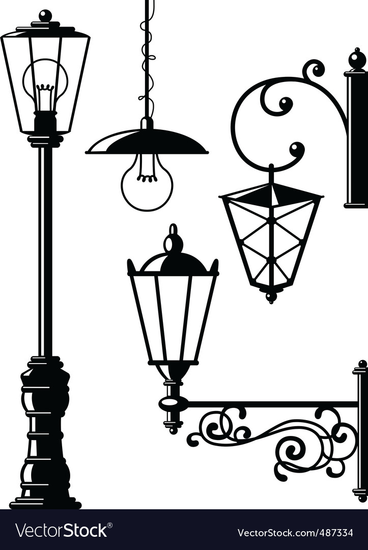 Oldfasioned lanterns vector | Price: 1 Credit (USD $1)