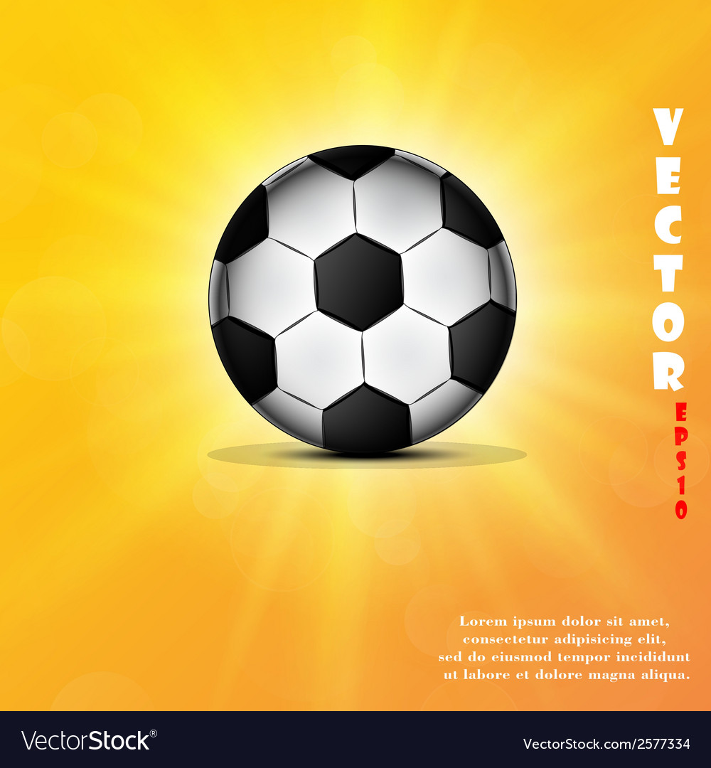 Soccer ball web icon flat design vector | Price: 1 Credit (USD $1)