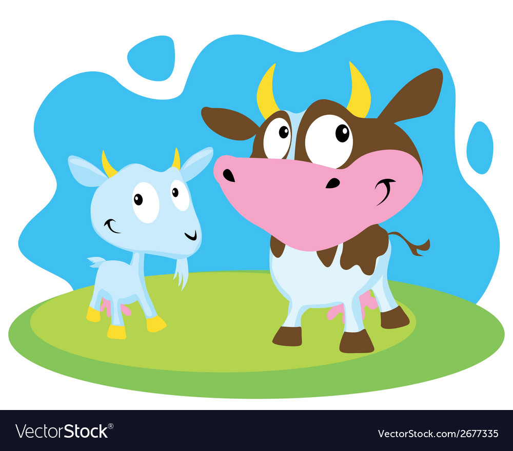 Cow and goat vector | Price: 1 Credit (USD $1)