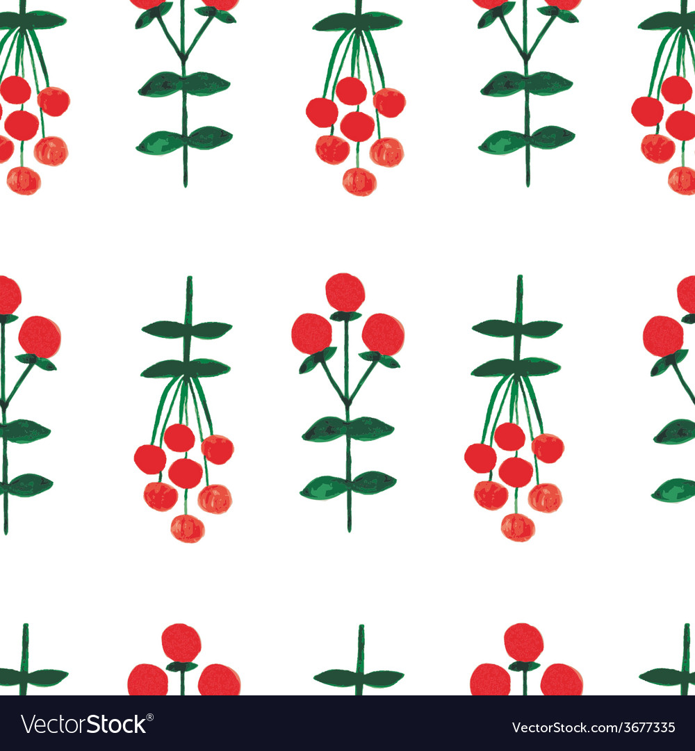 Floral watercolor seamless pattern vector | Price: 1 Credit (USD $1)