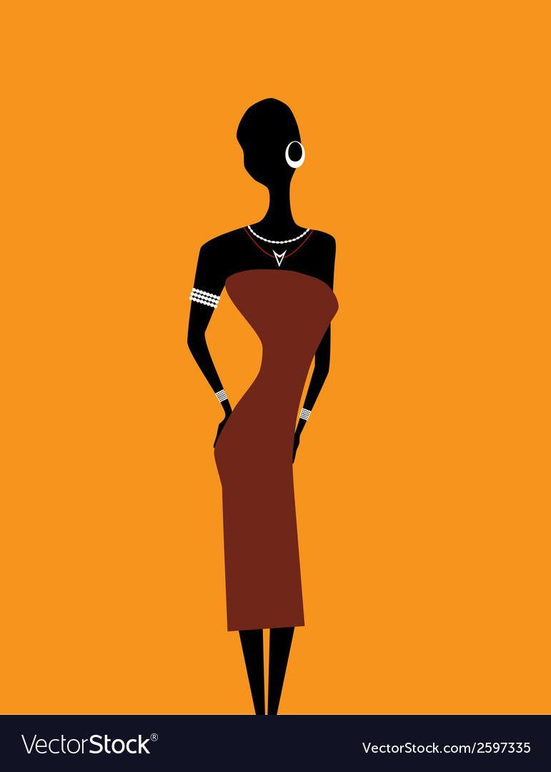Girl africa2 vector | Price: 1 Credit (USD $1)