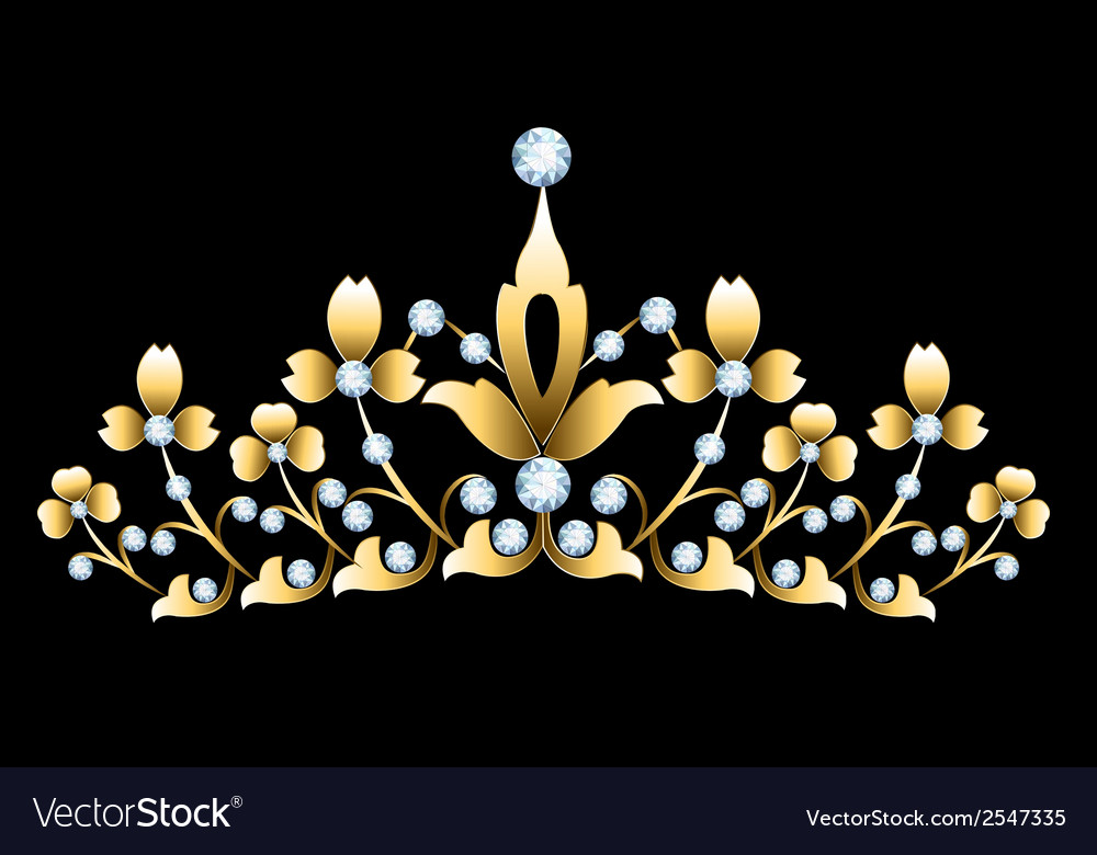 Golden tiara vector | Price: 1 Credit (USD $1)