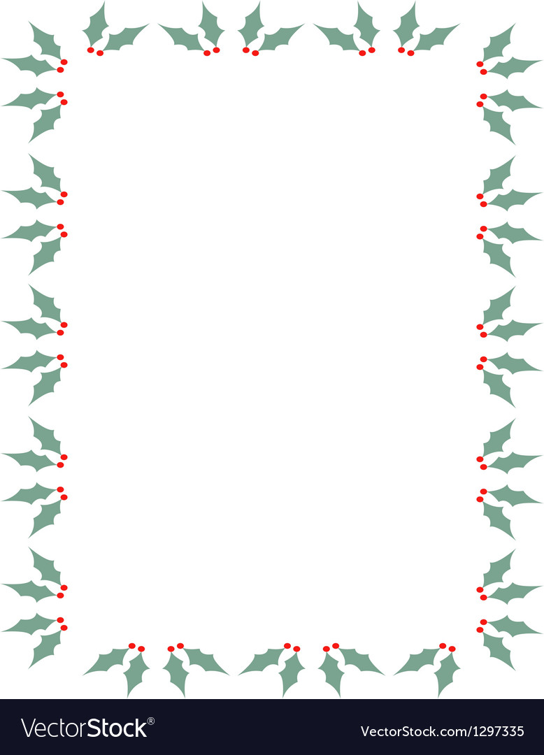 Holly border vector | Price: 1 Credit (USD $1)