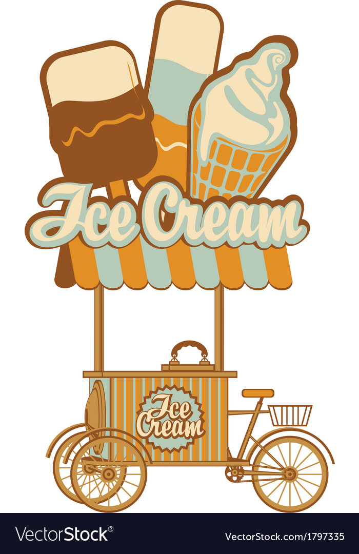 Ice cream on wheels vector | Price: 1 Credit (USD $1)