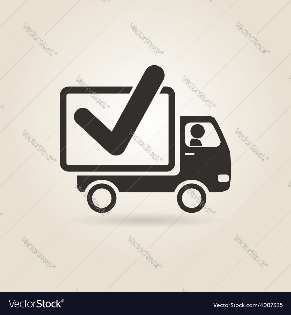Icon truck vector | Price: 1 Credit (USD $1)