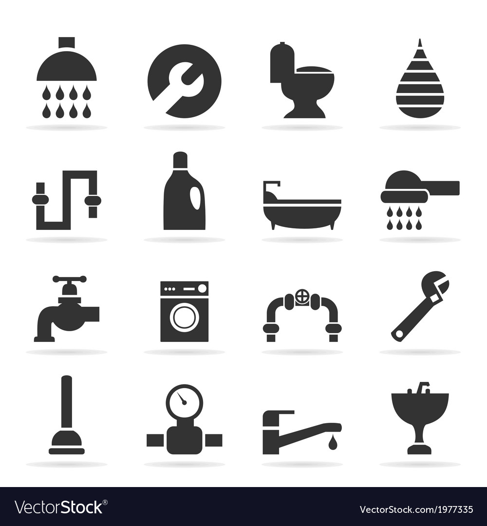 Icons sanitary technicians2 vector | Price: 1 Credit (USD $1)