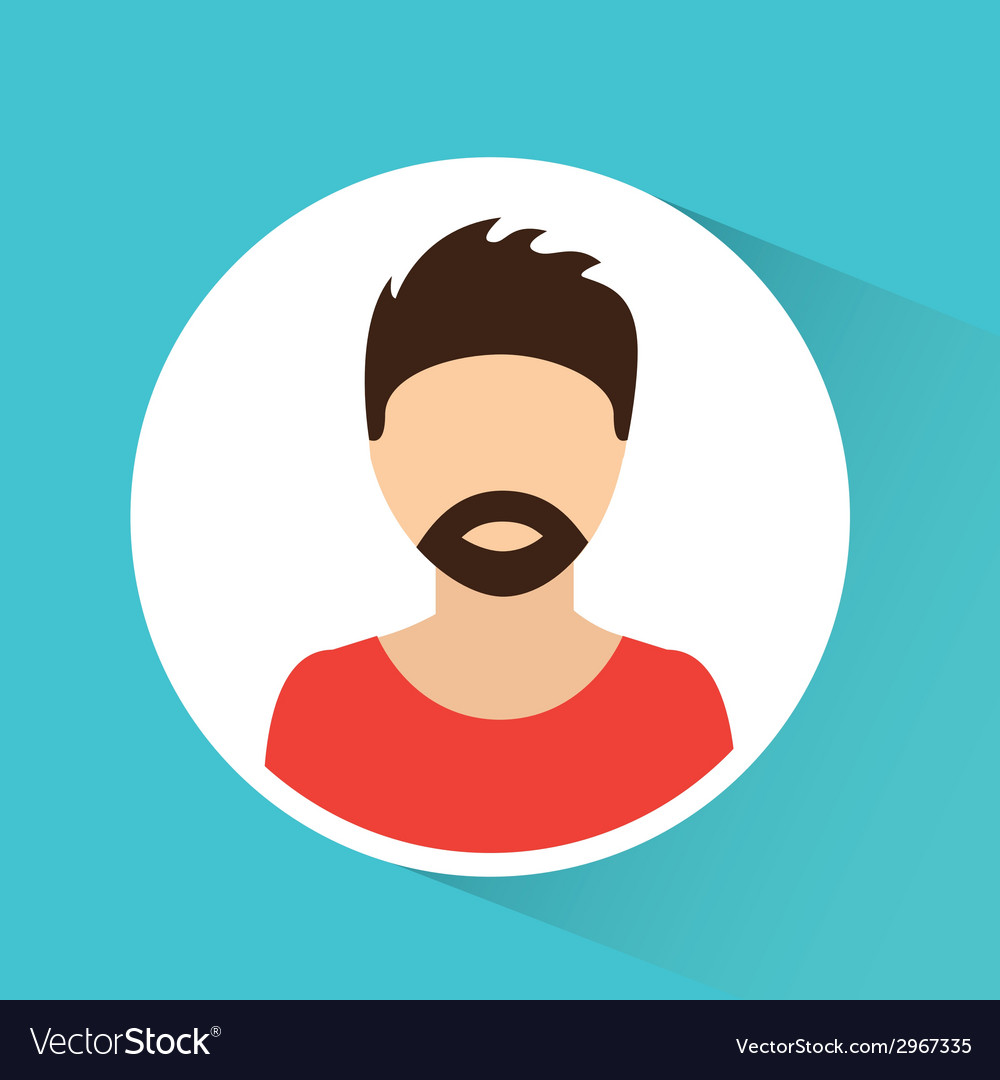Man avatar design vector | Price: 1 Credit (USD $1)