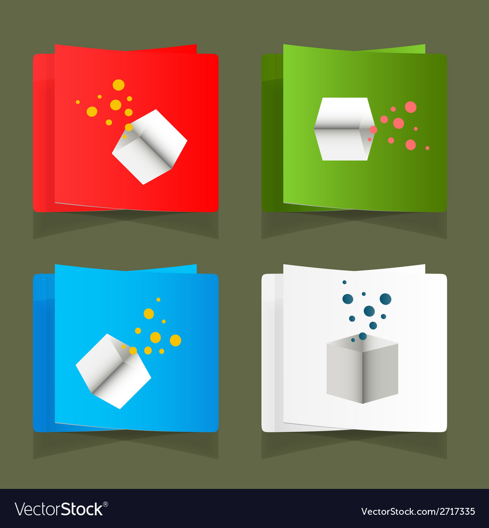 Set of simple square packages for packing vector | Price: 1 Credit (USD $1)