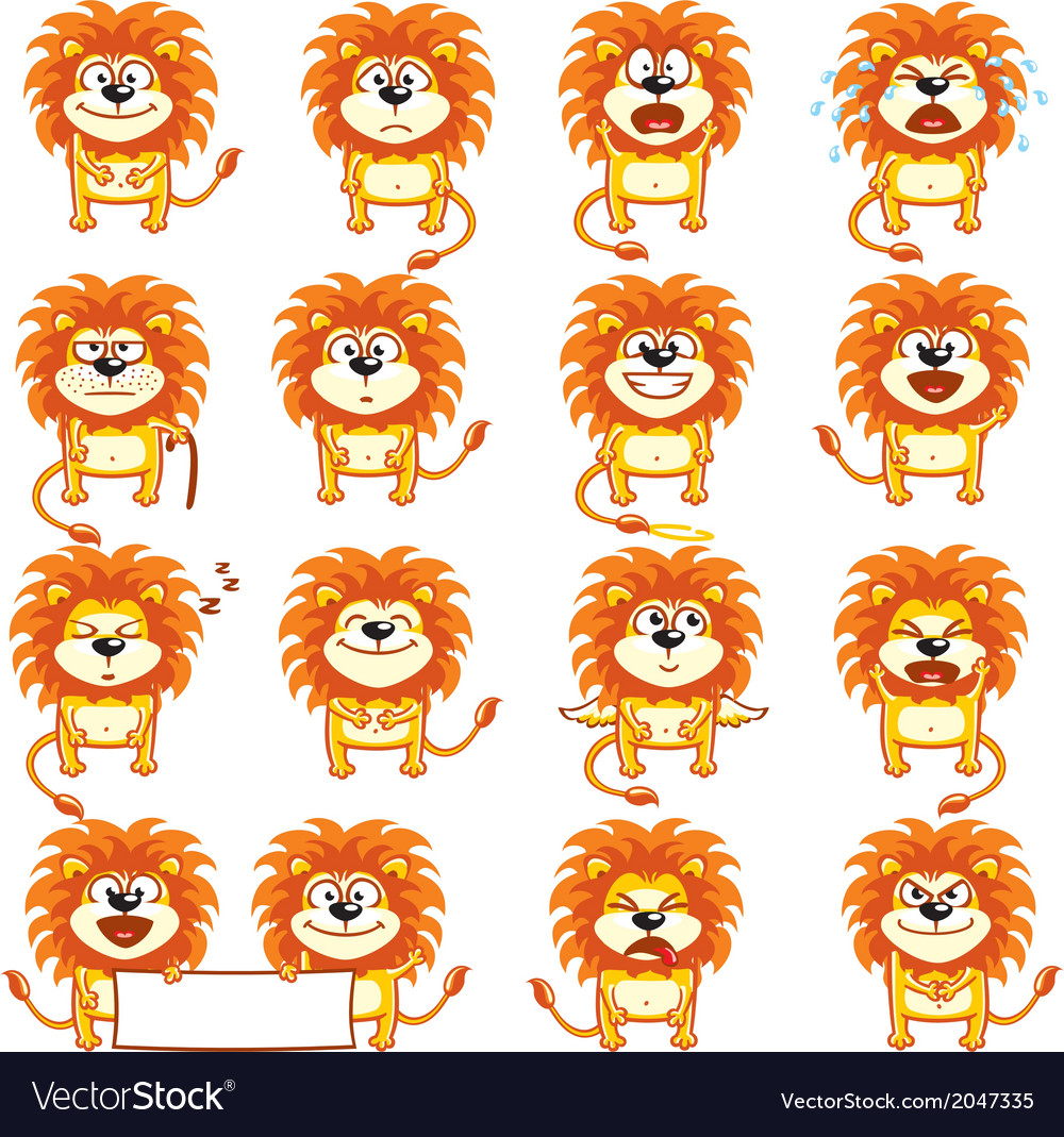 Smiley lions vector | Price: 1 Credit (USD $1)