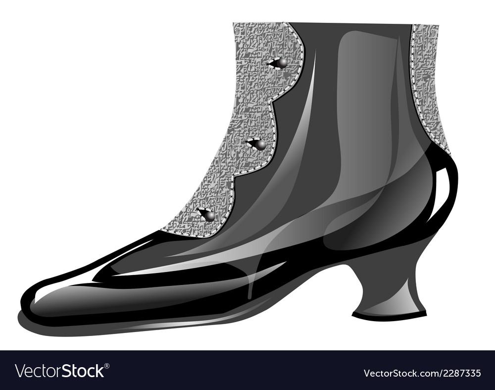 Vintage shoe vector   Price: 1 Credit (USD $1)