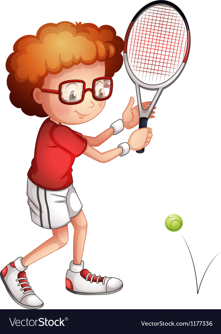 Cartoon tennis girl player vector | Price: 1 Credit (USD $1)