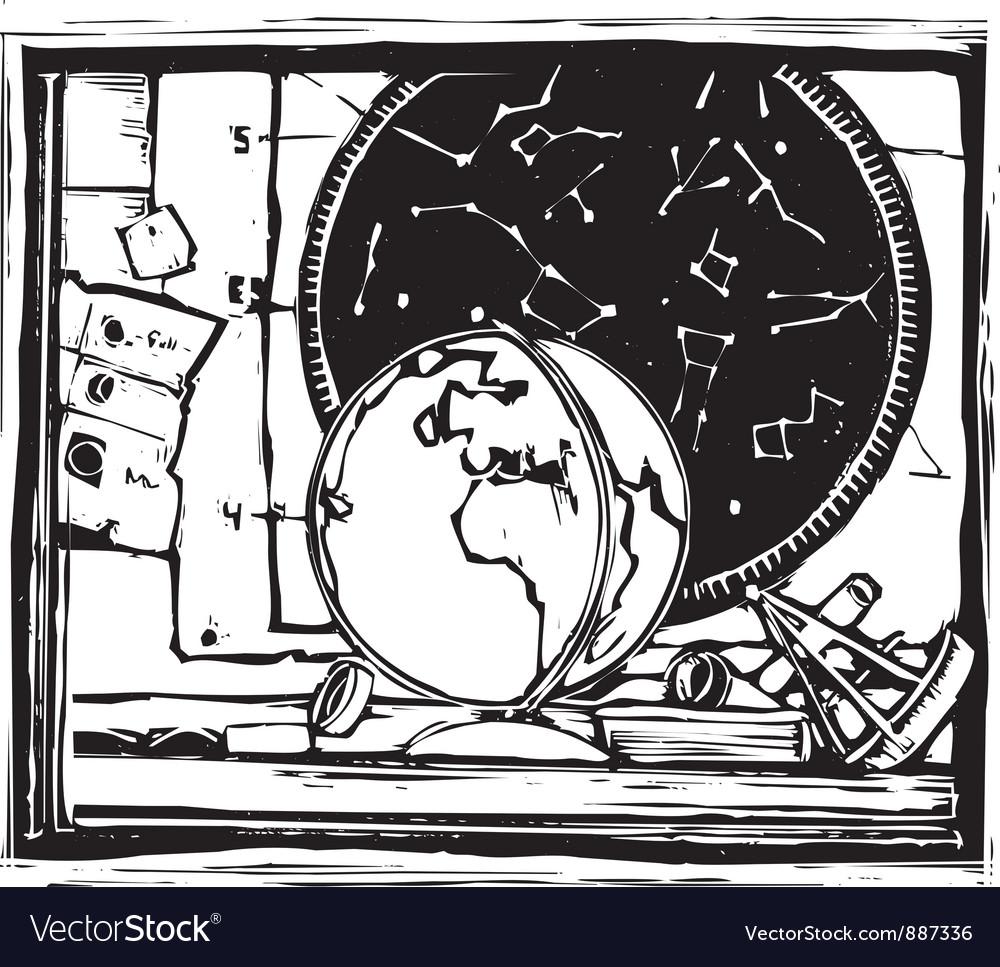 Cluttered desk vector | Price: 1 Credit (USD $1)
