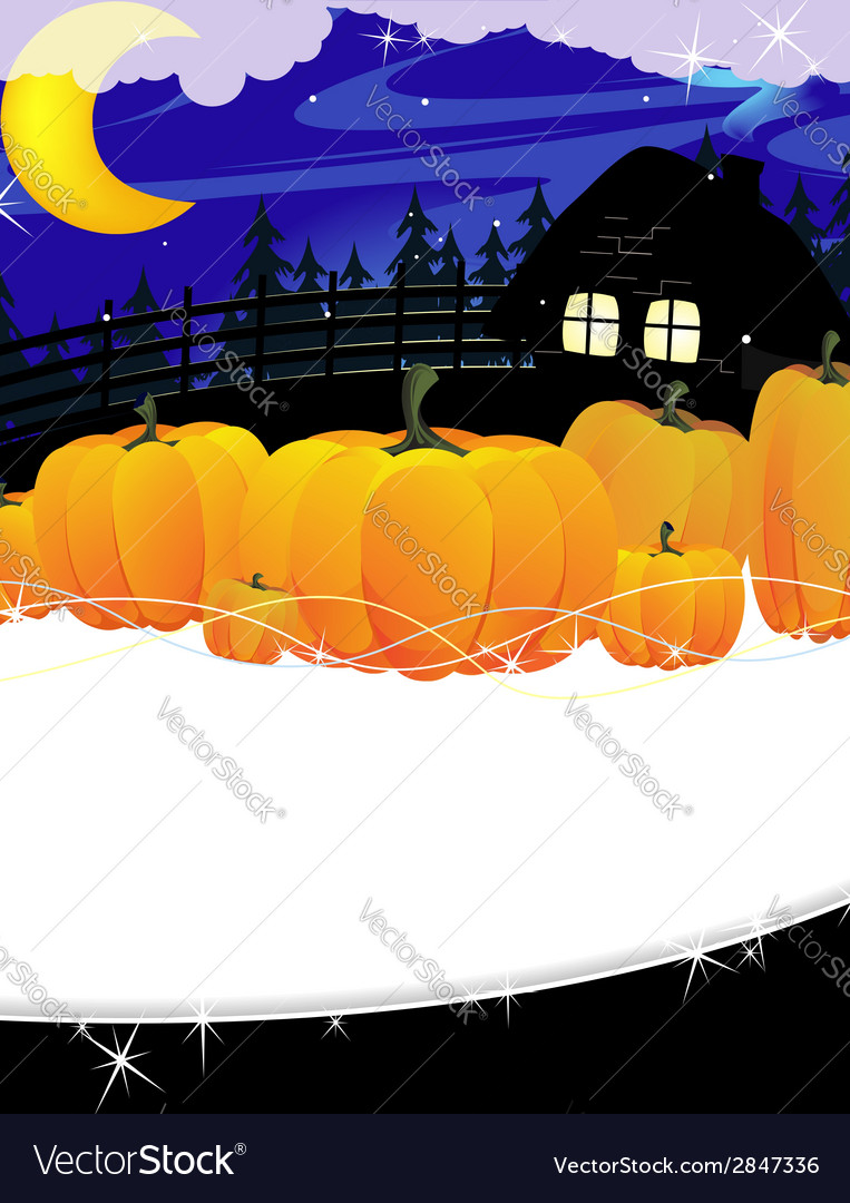 Forest lodge and a pile of pumpkins vector | Price: 1 Credit (USD $1)