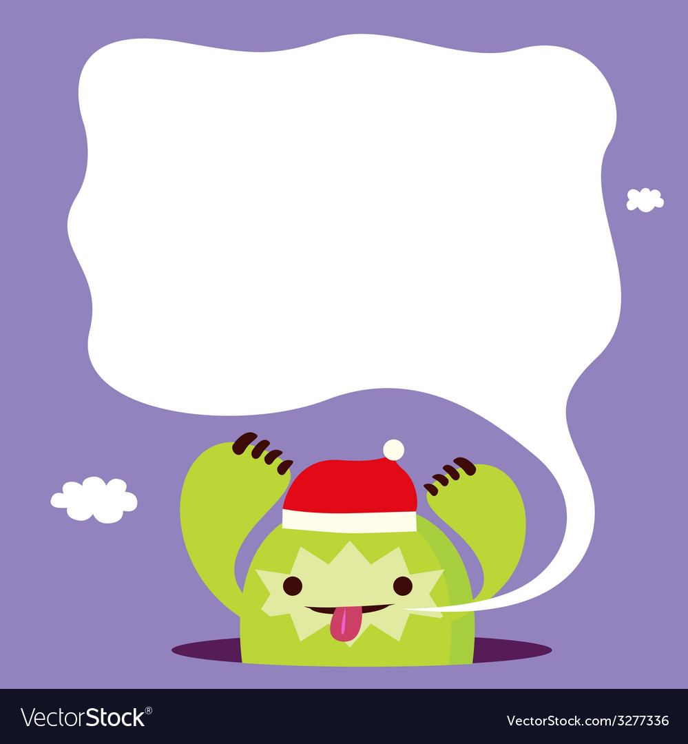 Hoiday print with green monster vector | Price: 1 Credit (USD $1)