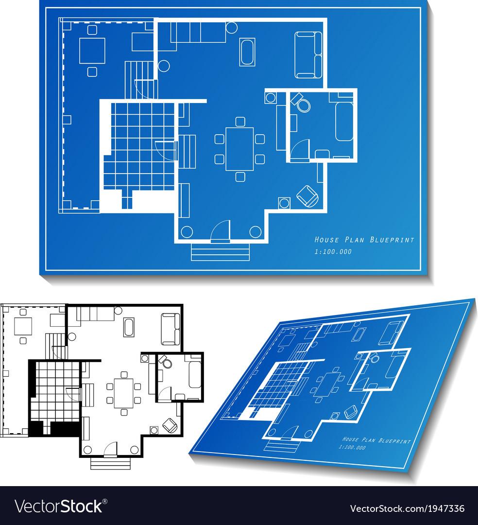 House plan set vector | Price: 1 Credit (USD $1)