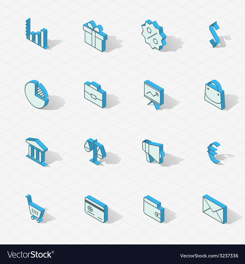 Light isometric flat design icon set vector   Price: 1 Credit (USD $1)