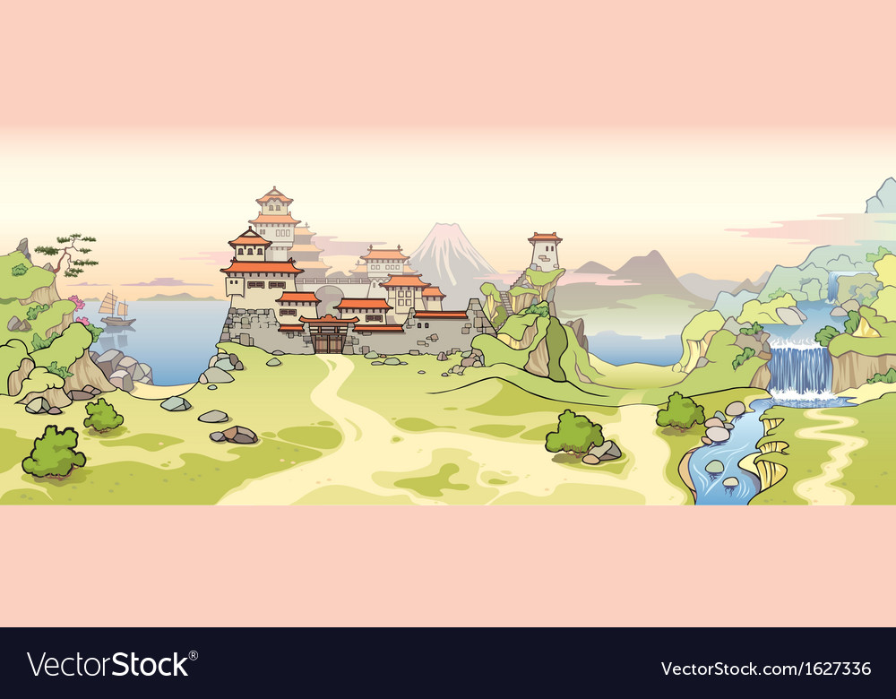 Old japanese castle vector | Price: 3 Credit (USD $3)