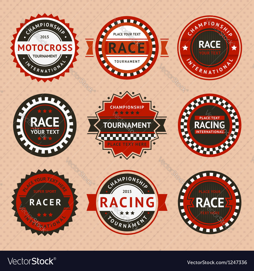 Racing insignia - vintage style vector | Price: 1 Credit (USD $1)