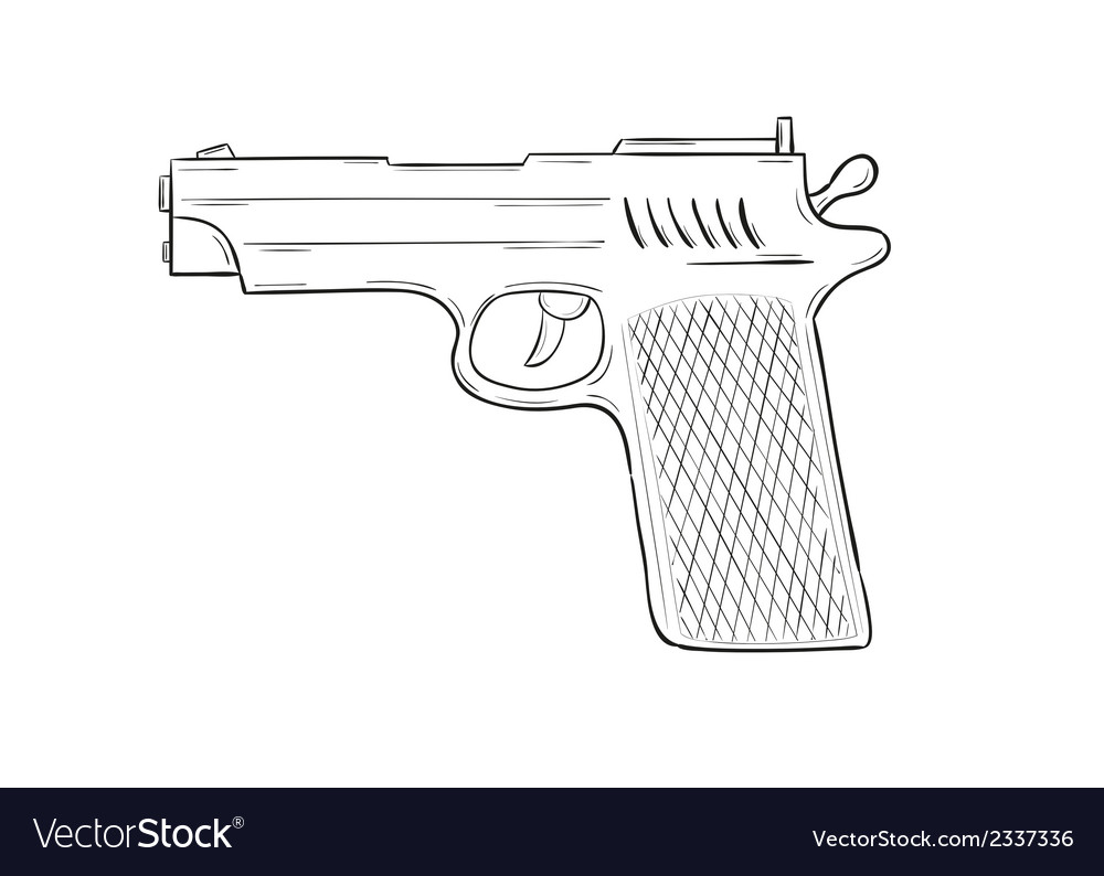 Sketch of the gun vector | Price: 1 Credit (USD $1)