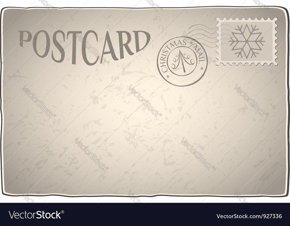 Xmas retro postcard vector | Price: 1 Credit (USD $1)