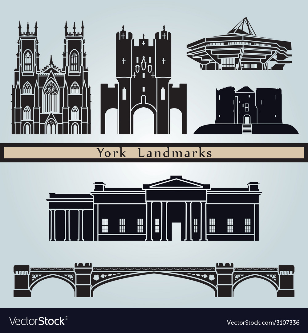 York landmarks and monuments vector   Price: 1 Credit (USD $1)