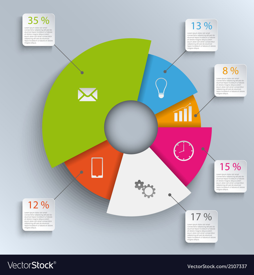 Abstract round info graphic template vector   Price: 1 Credit (USD $1)