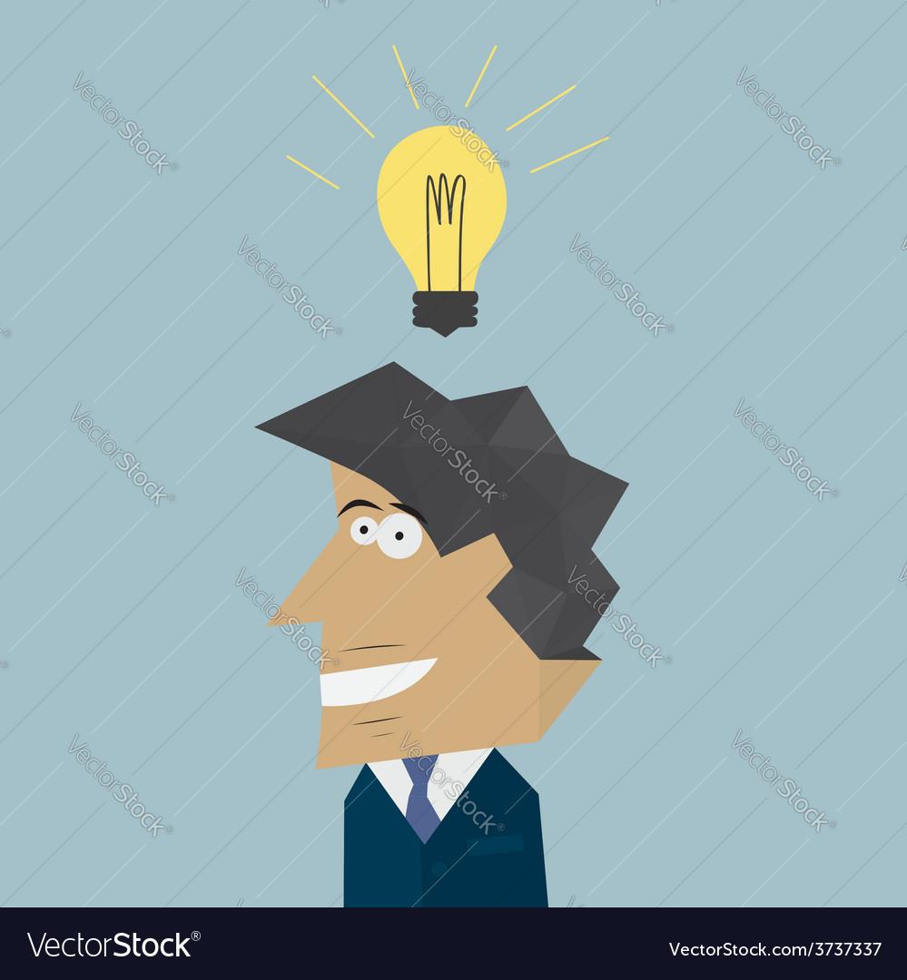 Businessman with lamp idea concept vector | Price: 1 Credit (USD $1)