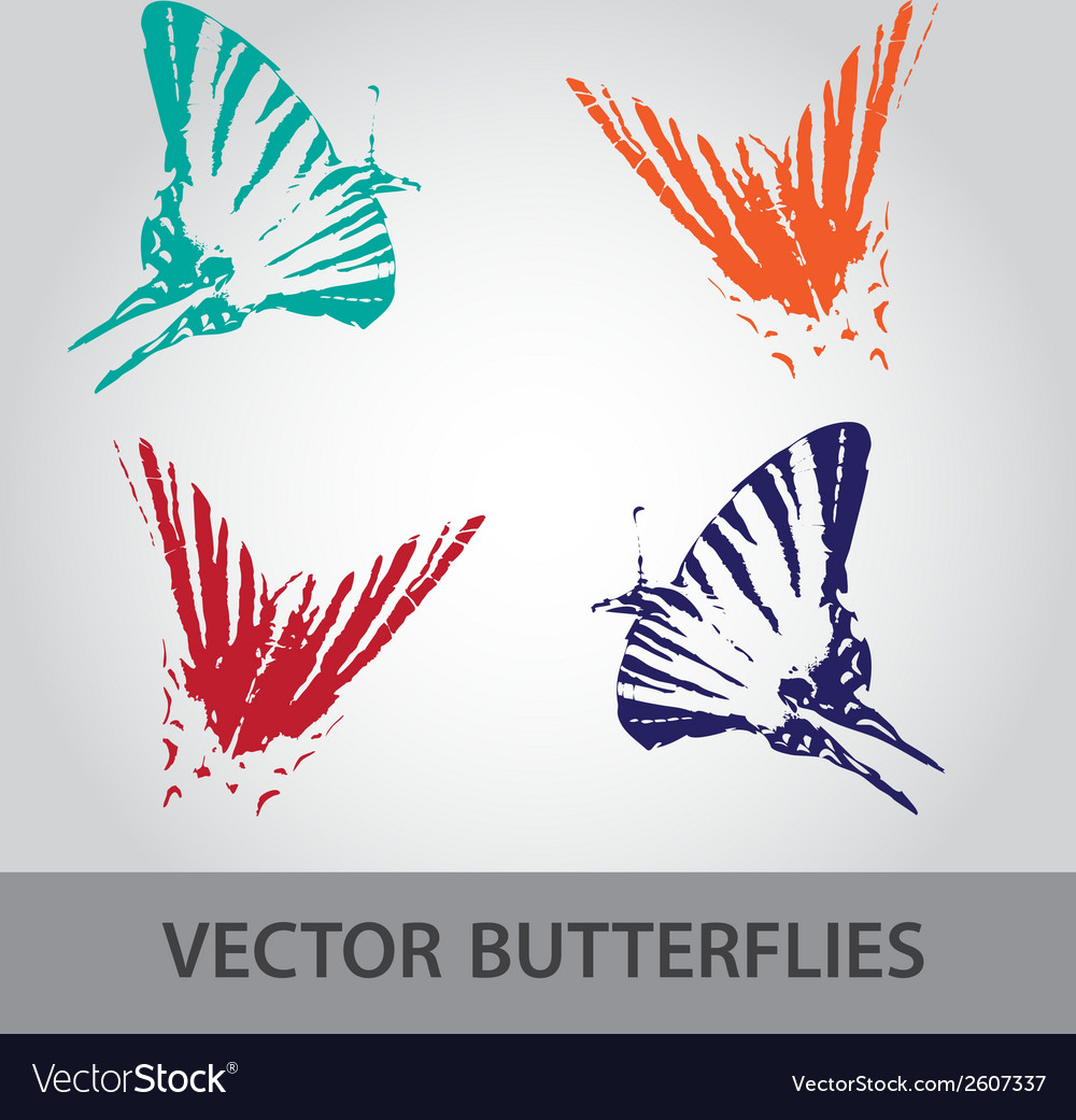 Butterfly icons eps10 vector | Price: 1 Credit (USD $1)