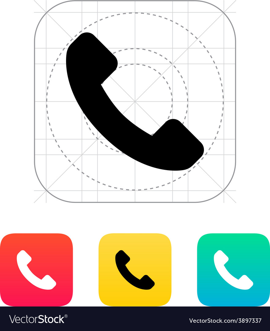 Call answer icon vector | Price: 1 Credit (USD $1)