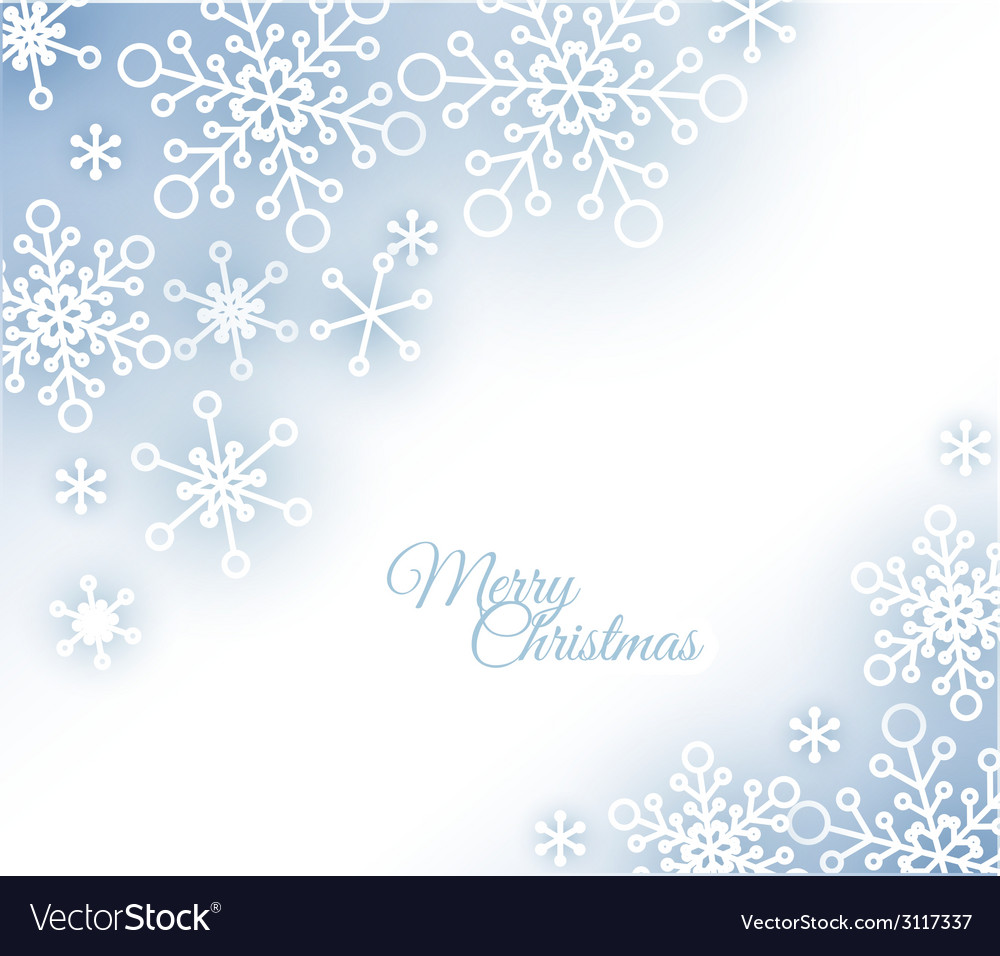 Christmas card with snowflakes on the background vector | Price: 1 Credit (USD $1)