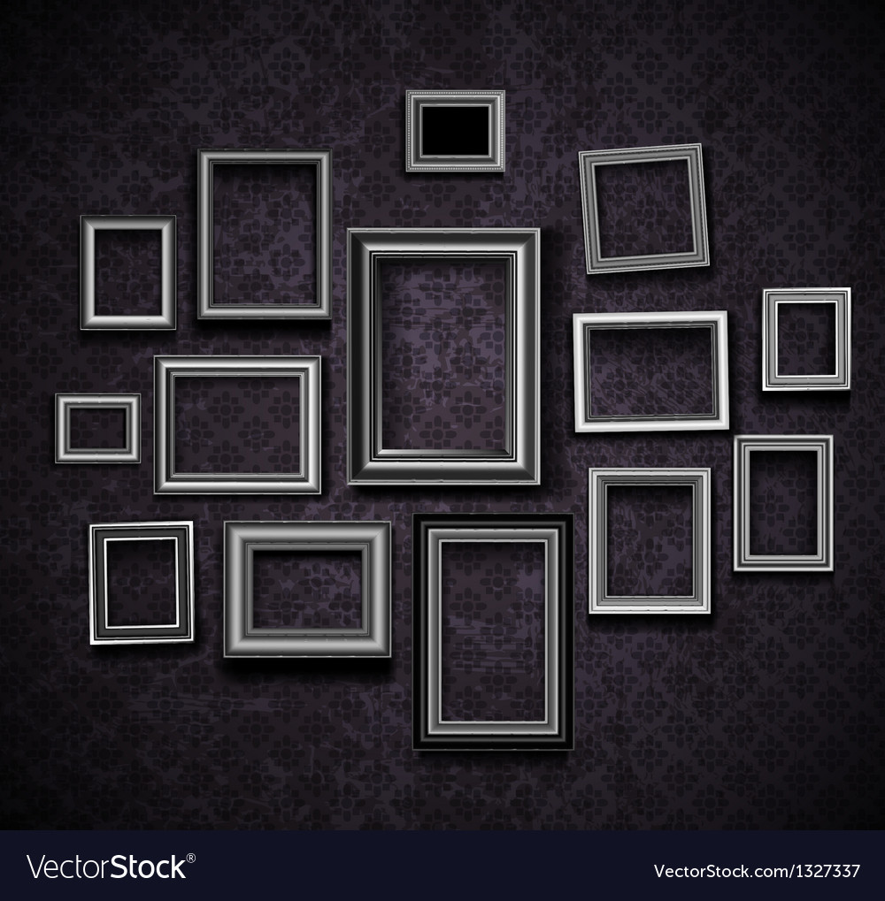 Photo picture frames vintage vector | Price: 1 Credit (USD $1)