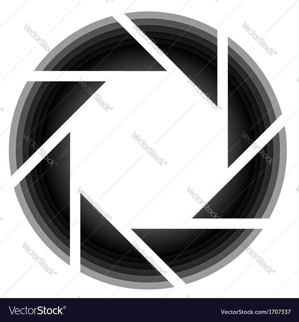 Photography aperture logo vector | Price: 1 Credit (USD $1)