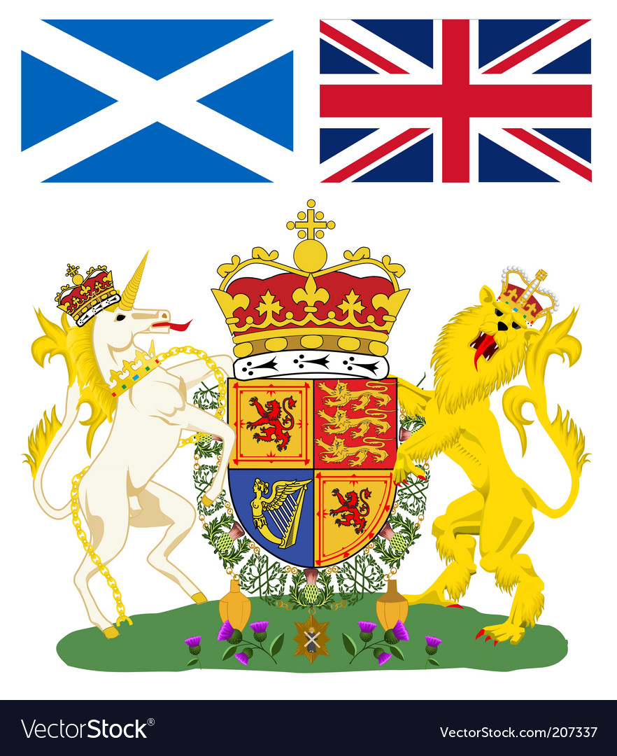 Scotland emblem vector | Price: 1 Credit (USD $1)