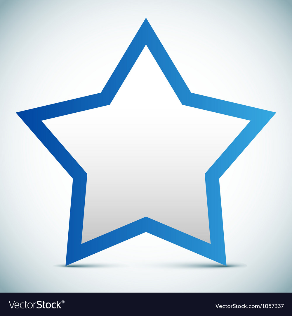 Star banner - empty text frame vector | Price: 1 Credit (USD $1)
