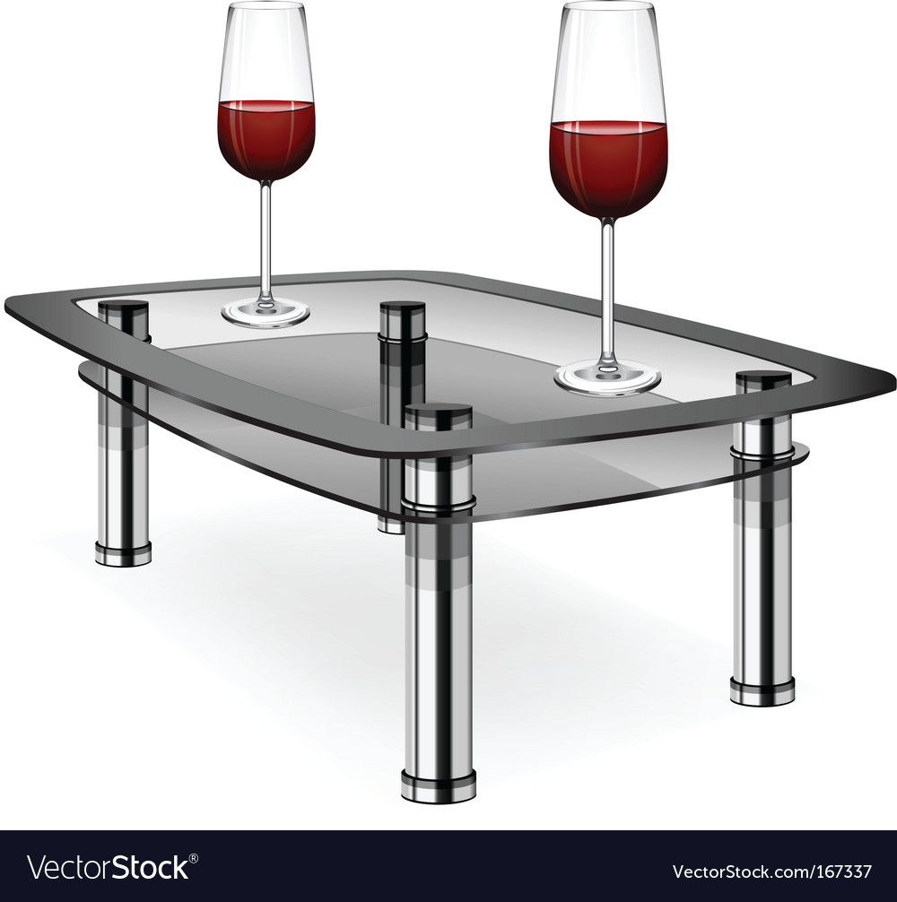 Wine glasses on table vector | Price: 3 Credit (USD $3)