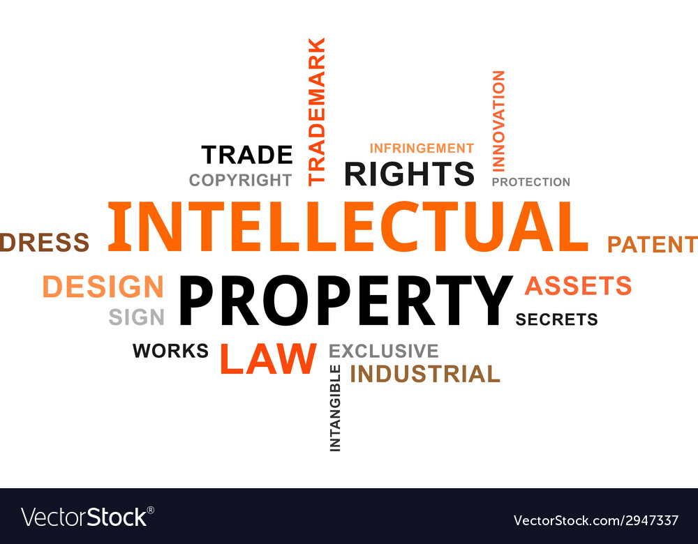 Word cloud intellectual property vector | Price: 1 Credit (USD $1)