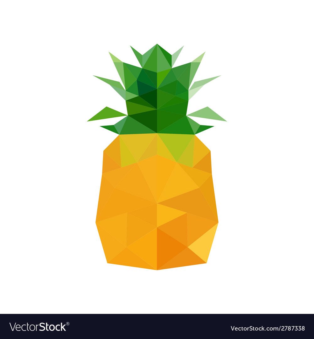 Abstract origami pineapple vector | Price: 1 Credit (USD $1)