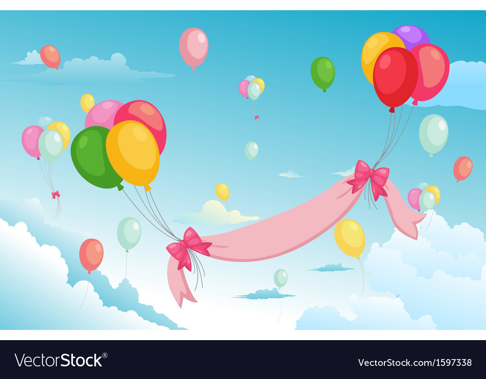 Balloon in the sky vector   Price: 1 Credit (USD $1)