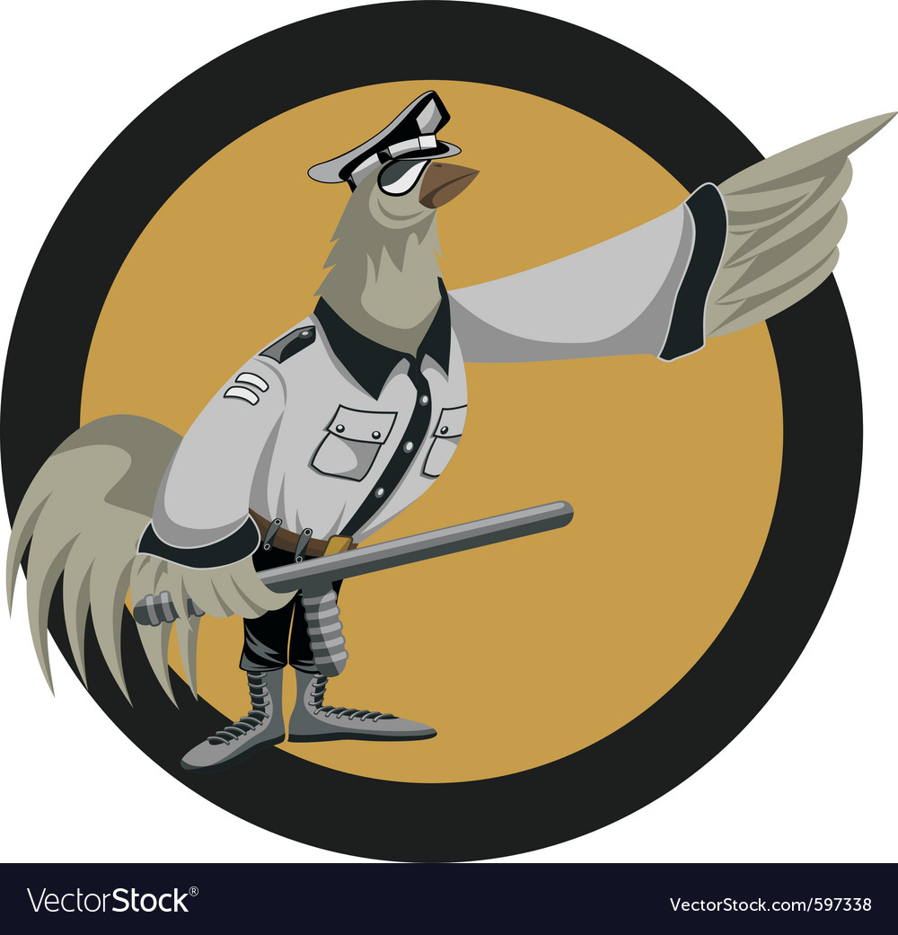 Cool policeman vector | Price: 3 Credit (USD $3)