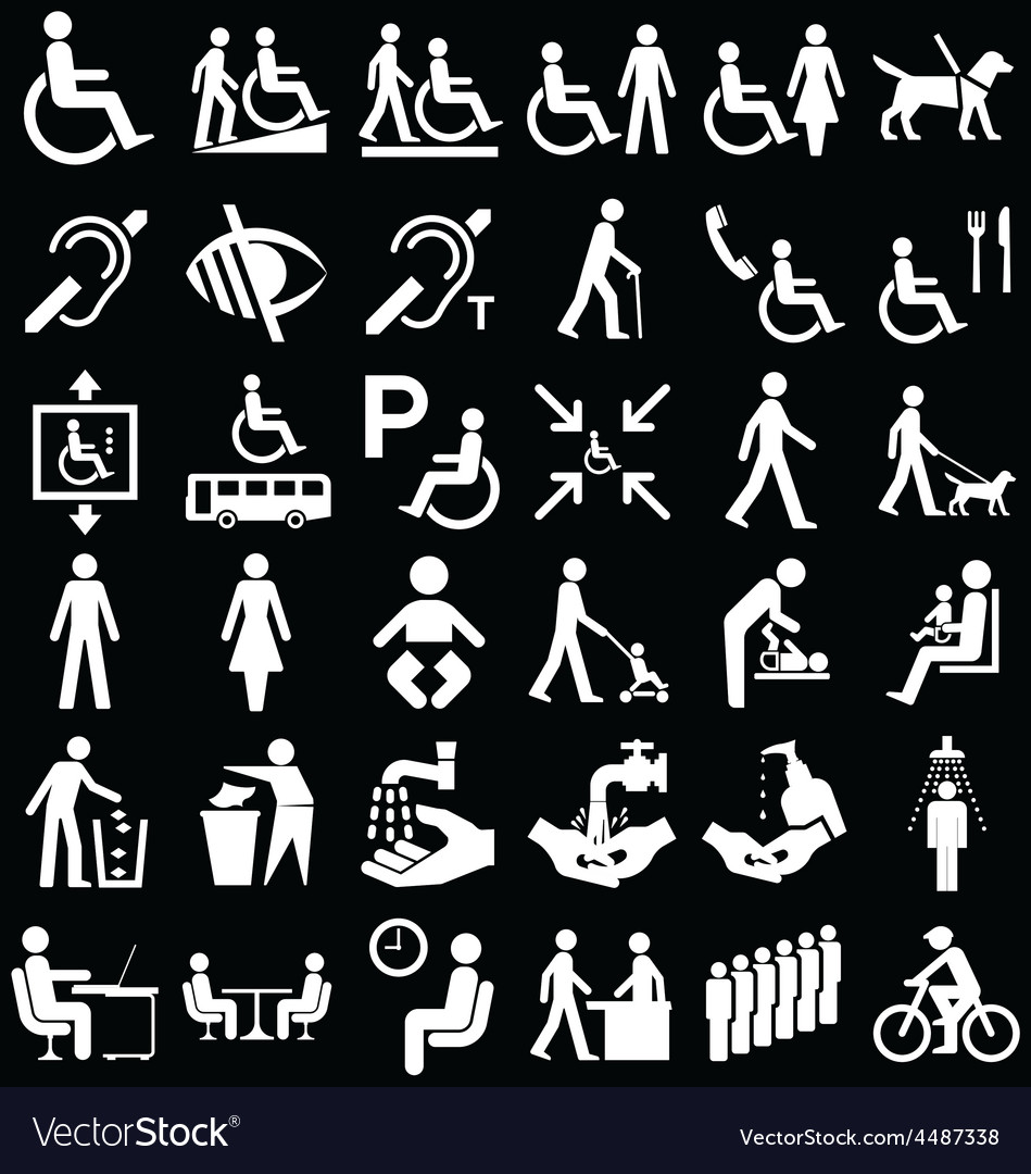 Disability and people graphics vector | Price: 1 Credit (USD $1)