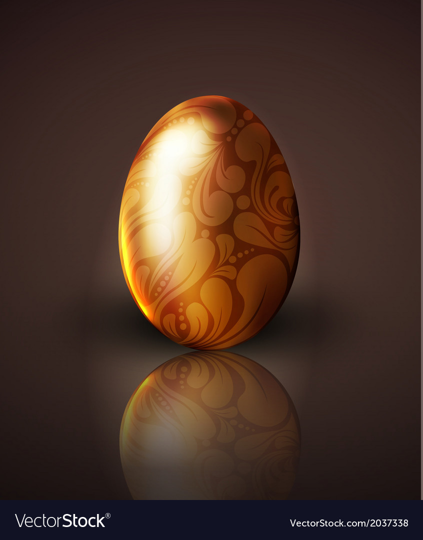 Golden easter egg with ornament vector | Price: 1 Credit (USD $1)