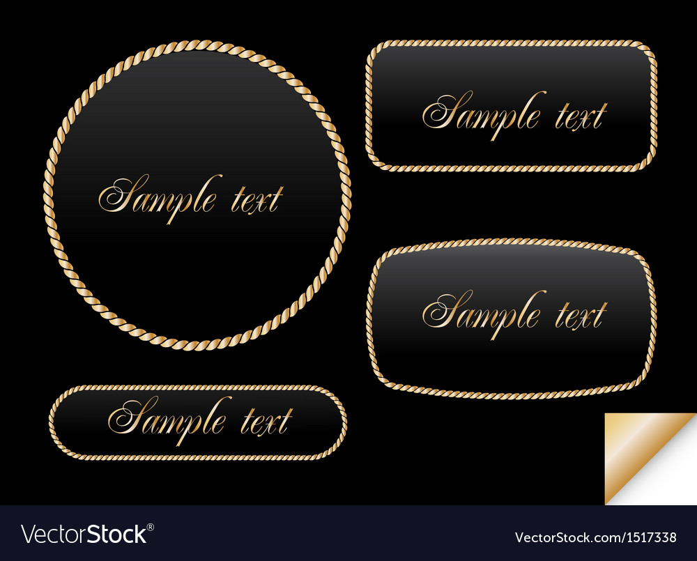 Golden sign on chain frame vector | Price: 1 Credit (USD $1)
