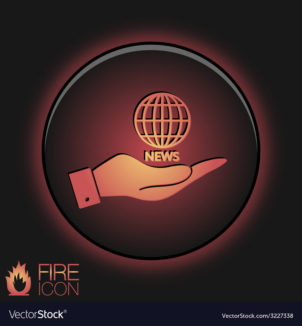 Hand holding a globe symbol news symbol news icon vector   Price: 1 Credit (USD $1)