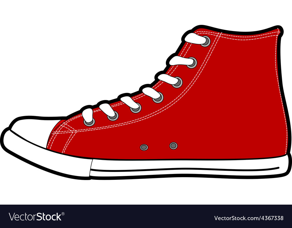 Isolated modern red sneakers vector | Price: 1 Credit (USD $1)