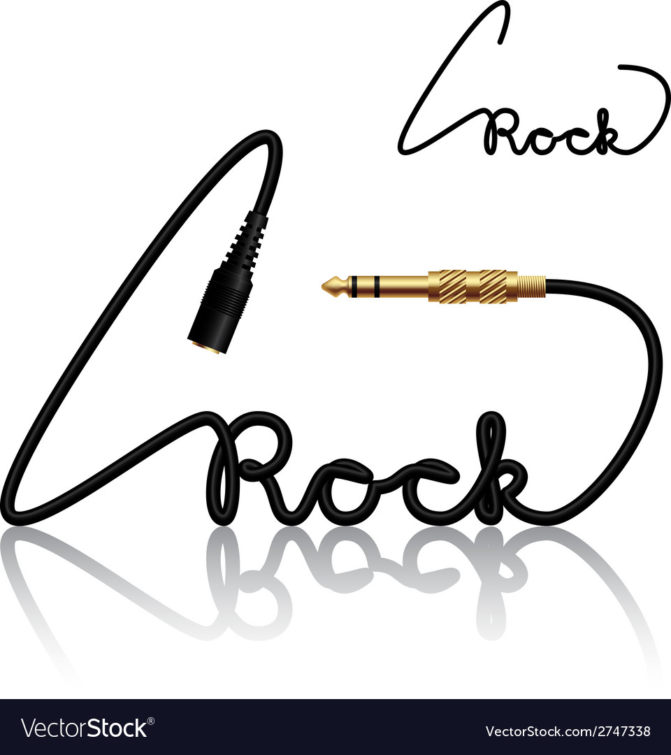 Jack connectors rock calligraphy vector | Price: 1 Credit (USD $1)