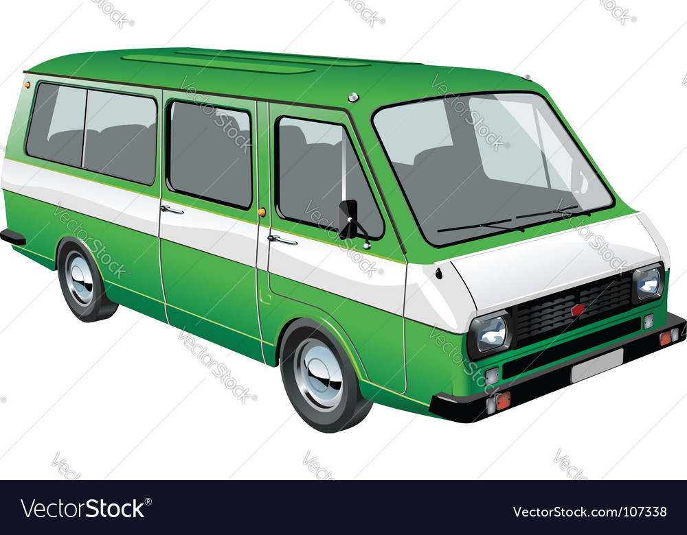 Mini bus vector | Price: 1 Credit (USD $1)