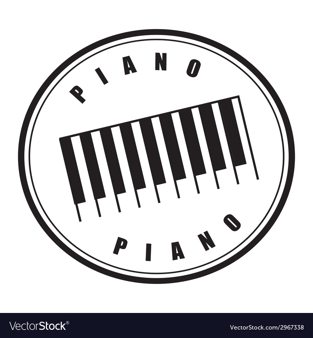 Piano design vector | Price: 1 Credit (USD $1)