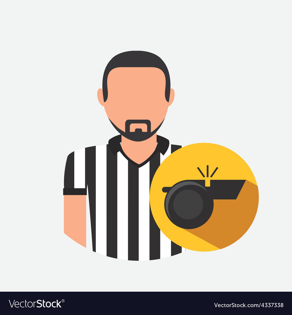 Referee icon vector | Price: 1 Credit (USD $1)