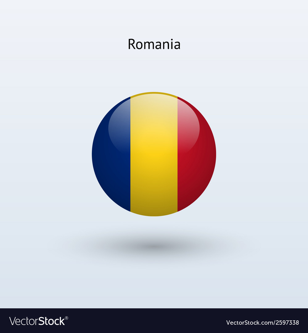 Romania round flag vector | Price: 1 Credit (USD $1)